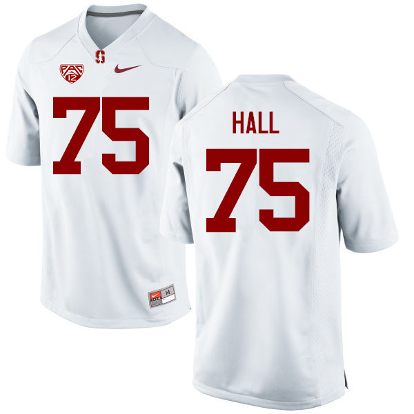 Men Stanford Cardinal #75 A.T. Hall College Football Jerseys Sale-White